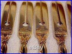 Fourchettes à crustacés Louis XV argent massif Minerve vermeil Risler & Carré