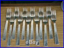 Fourchettes de Table Art Déco Argent Plaqué Christofle Modèle Mira Luc Lanel