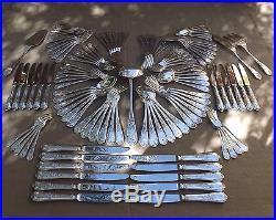 Francois Frionnet Menagere Louis XV 119 Pieces En Metal Argente Vers 1950