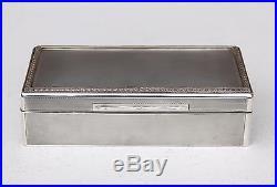 GRANDE BOITE ARGENT MASSIF ART DECO MAPPIN WEBB 1934 SOLID SILVER BOX 560 g