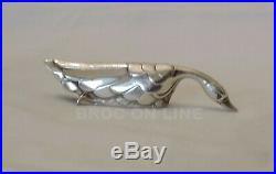 Gallia Christofle 12 Porte Couteaux Animaux Art Deco En Metal Argente