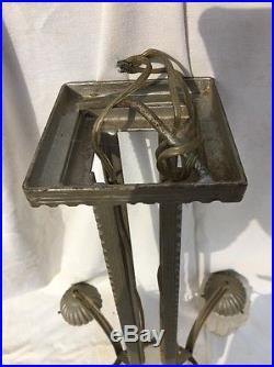 Grand Lustre 1930 Art Déco Fer Forge