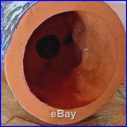 Grès de Rambervilliers, grand hibou/chouette, yeux en sulfure. Epoque 1930