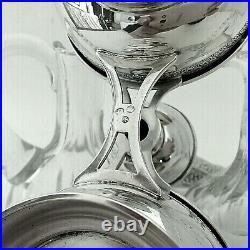 HUILIER VINAIGRIER au Dauphin Cristal Argent Massif XXe
