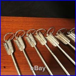 Halphen, 9 Hâtelets/Pique à brochette, métal argenté, XX°