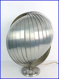 Henri Mathieu Modèle Lamella Lampe Design Des Années 70