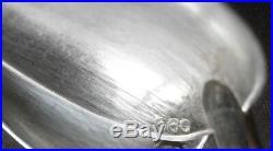 Indochine 11 cuillères à thé / café en argent massif guilloché titre 680 / 1000