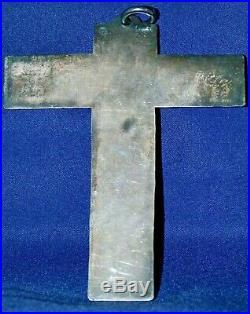 Jean DESPRES Croix Argent poinçon d'orfévre J. D. & Minerve communiant christ