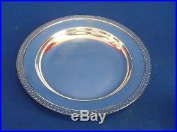 Jean E. Puiforcat Rare Assiette Argent Massif Poincon Minerve Epoque Art Deco