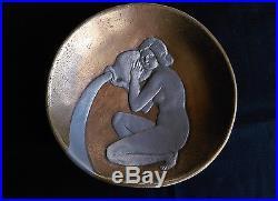 Joli Vide Poche Art Déco En Bronze Doré Et Argenté