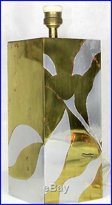 LAMPE ART DÉCO! Designer Marqueterie de feuille doré et argent