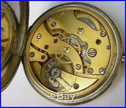 LIP élégante montre à gousset Art Déco en or et argent