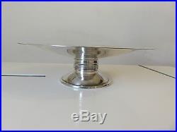 Luc Lanel Metal Argente Christofle Coupe A Fruits Model Ondulation Art Deco