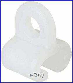 Lampa 97114 Crochet Coulissant pour rails de rideaux y Pack de 25 pièce