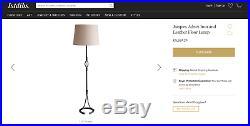 Lampadaire Jacques Adnet moderniste années 50 fer à cheval cuir art déco lampe