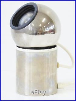 Lampe A Poser Ou Applique Boule Chrome Aimantee 1970 Vintage Space Age Pop 70s