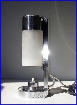 lampe art deco bauhaus boris lacroix mitis table lamp alte tischlamp 1930 argente art. Black Bedroom Furniture Sets. Home Design Ideas