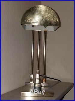 Lampe Art Deco Industrielle New York Art Studio 1938 numérotée bronze argentée