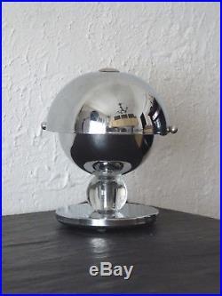 Lampe Art Déco Moderniste Métal Chromé Dlg Adnet Desny. Table Lamp