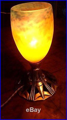 Lampe Art Déco Nouveau Tulipe Signé Muller French Lamp Lustre Daum Chandelier