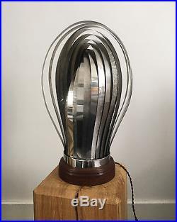 Lampe Design Henri Mathieu En Acier Des Années 70 En Forme De Coquillage