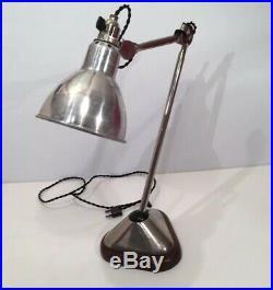 Lampe GRAS RAVEL 206 nickelée Art Deco Bauhaus Table Lamp 1930 era Le Corbusier