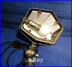Lampe Pirouett Lupanard Rare Modèle De Collection A Verre Nuagé Socle Art Deco