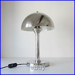 lampe champignon bauhaus art deco ann es 30 40 style wagenfeld jucker 1930 argente art. Black Bedroom Furniture Sets. Home Design Ideas