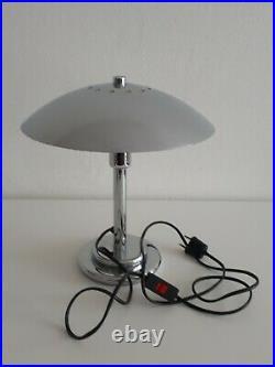 Lampe champignon chromée ART DECO Vintage 1970 Luminor