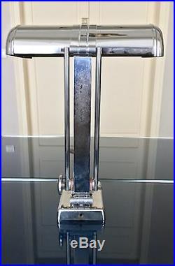 Lampe de bureau Art Déco Lampe de table orientable chrome orientable