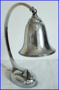 Lampe orientable métal chromé 1930 Art Deco