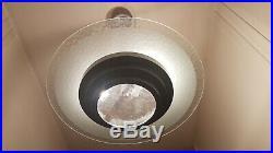 Lustre Art Déco Anneau de Saturne verre et aluminium, Saturn rings ceiling light
