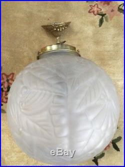 Lustre Art Deco Globe Déclairage Era Degué
