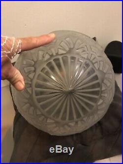 Lustre Art Deco Lampe 1930 Signe Lorrain Daum Vasque Muller Degue French Lamp
