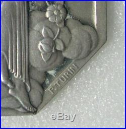 MEDAILLE ARGENT ART DECO EXPOSITION ARTS DECORATIFS PARIS 1925 graveur TURIN