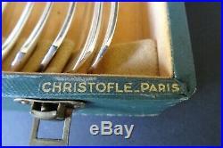 MENAGERE CHRISTOFLE ART-DECO modèle BORÉAL de 37 pièces métal argenté LUC LANEL
