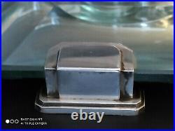 Magnifique Centre De Table Cristal Baccarat Argent Art Deco 1930 Lagriffoul Lava