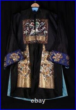 Magnifique Kimono brodé cannetille or et argent Chine Circa 1920 Art Deco robe