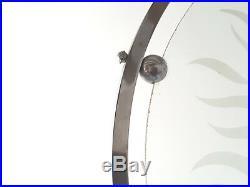 Magnifique Lustre Art Deco Cercle & Boule Acier Chrome & Verre 1920 1930 Vintage