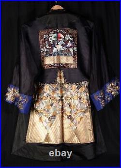 Magnifique Robe brodé cannetille or et argent Chine Circa 1920 Art Deco robe