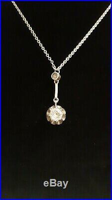 Magnifique ancienne collier art-déco en argent