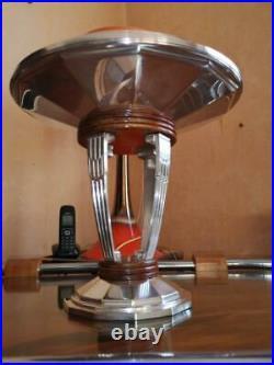 Magnifique centre de table coupe métal argenté art déco Durousseau et Raynaud
