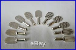 Maison CHRISTOFLE 11 porte couteau métal argenté ART DECO