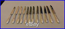Ménagère 12 Couteaux Métal argenté et lame Inox