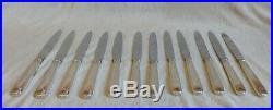 Ménagère 12 Couteaux Orbrille Métal argenté et lame Inox