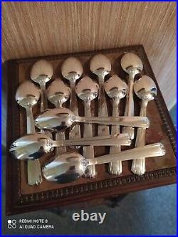 Ménagère 37 Pièces Style Art Déco Métal Argenté