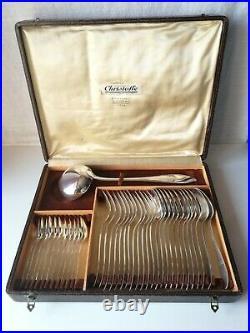 Ménagère 37 pièces en métal argenté Christofle modèle Atlantique, Art-Déco