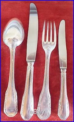 Ménagère 48 pièces art déco métal argenté