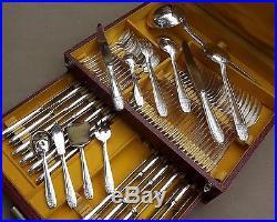 Menagere Art Deco Modele Grand Prix 64 Pieces En Metal Argente Vers 1950