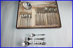 Ménagère Art déco 37 pièces en métal argenté poinçon REX & SNO 84